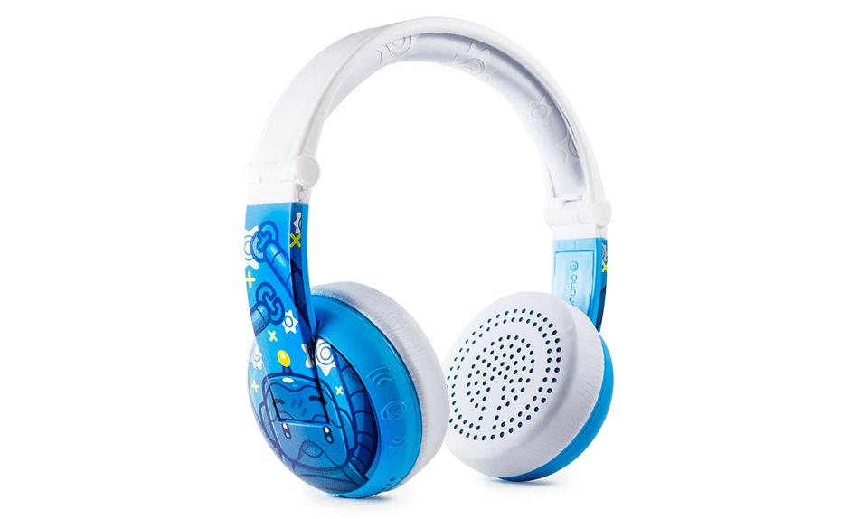 Căști BuddyPhones Wave albastre.