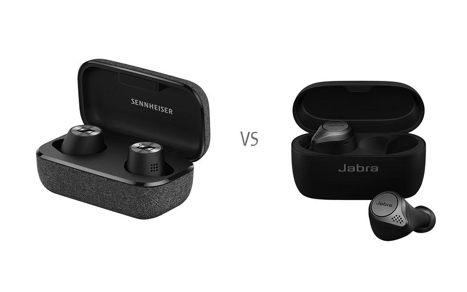 Carcasa si casti Sennheiser Momentum True Wireless 2 vs. Jabra Elite 75t