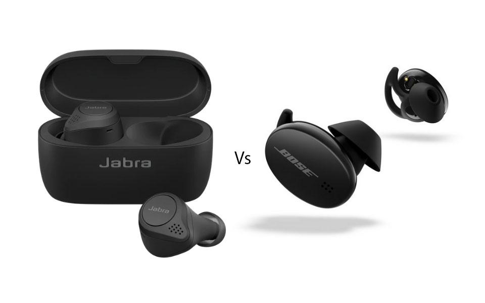 Carcasa si casti Jabra Elite Active 75t vs casti Bose Sport Earbuds.
