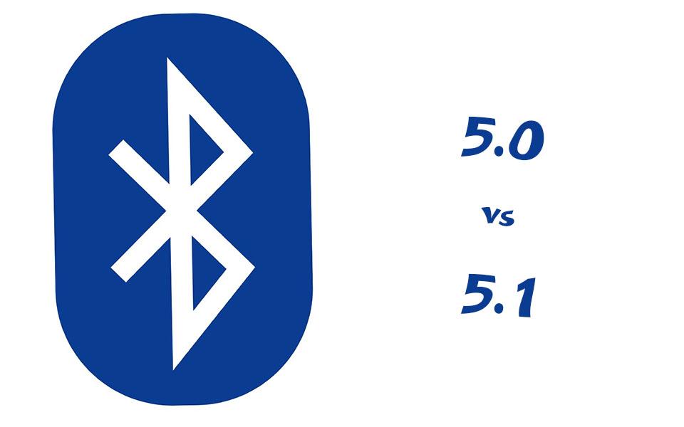 Logo bluetooth si text 5.0 vs 5.1