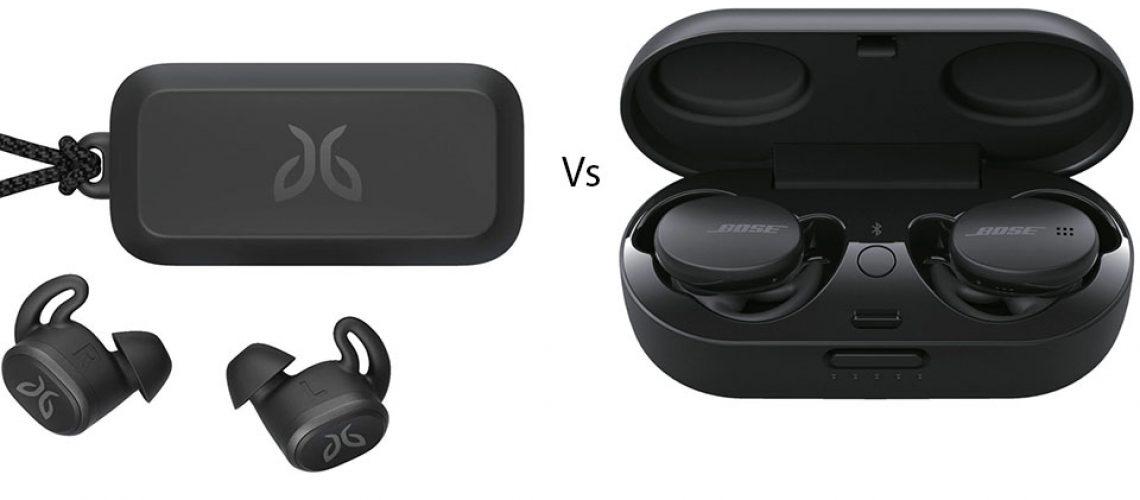 Carcasa si casti Bose Sport Earbuds vs. Jaybird Vista.